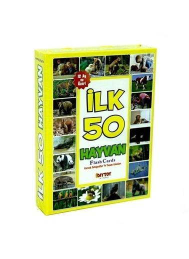 Bunjoy Flash Cards İlk 50 Hayvan (Diy-Toy Yayınları) Renkli